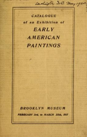 """Cover of """"Catalog of an exhibition of Early American paintings"""""""