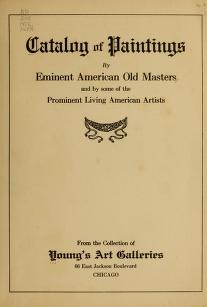 """Cover of """"Catalog of paintings by eminent American old masters"""""""