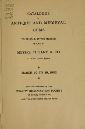 """Cover of """"Catalogue of antique and medieval gems"""""""