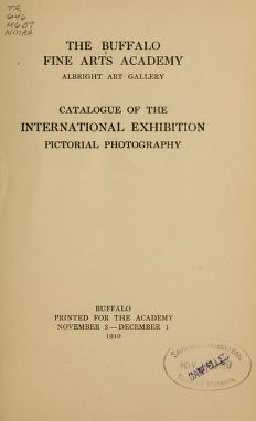 """Cover of """"Catalogue of the international exhibition, pictorial photography /"""""""
