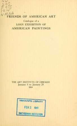 "Cover of ""Catalogue of a loan exhibition of American paintings"""