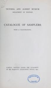 """Cover of """"Catalogue of samplers"""""""