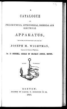 """Cover of """"A catalogue of philosophical, astronomical, chemical and electrical apparatus /"""""""