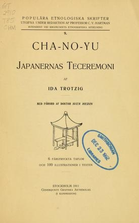 """Cover of """"Cha-no-yu"""""""