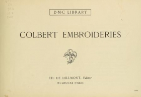 """Cover of """"Colbert embroideries /"""""""