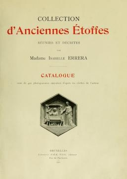 "Cover of ""Collection d'anciennes étoffes"""