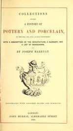 """Cover of """"Collections towards a history of pottery and porcelain, in the 15th, 16th, 17th, and 18th centuries"""""""