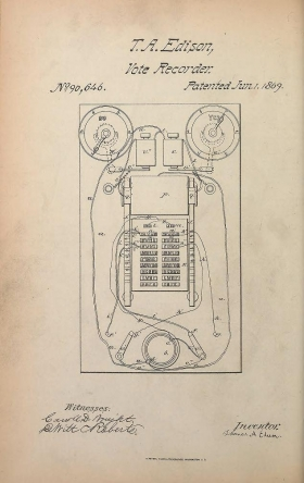 Cover of Collection of United States patents granted to Thomas A. Edison