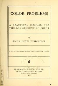 """Cover of """"Color problems"""""""