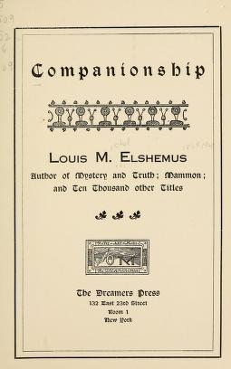 "Cover of ""Companionship"""