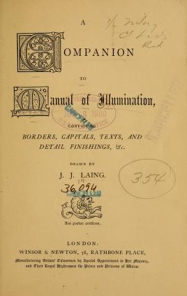 "Cover of ""A companion to Manual of illumination"""