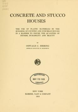 "Cover of ""Concrete and stucco houses"""