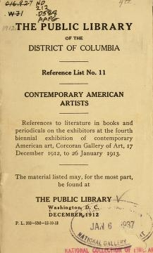 "Cover of ""Contemporary American painters"""
