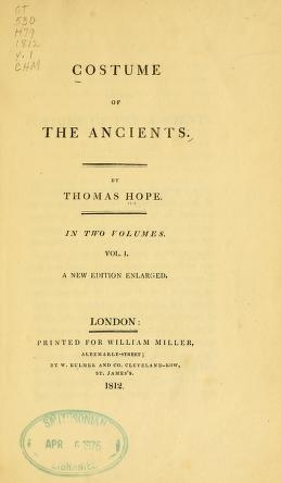 "Cover of ""Costume of the ancients"""