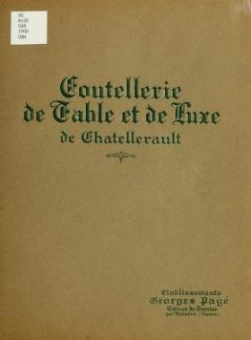 """Cover of """"Coutellerie de table et de luxe de Chatellerault"""""""