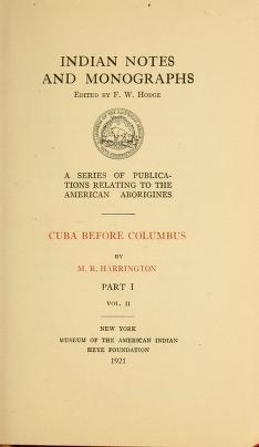 Cover of Cuba before Columbus