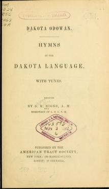 "Cover of ""Dakota odowan"""