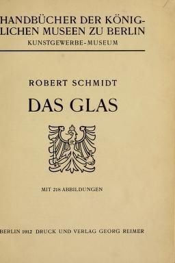 """Cover of """"Das Glas"""""""