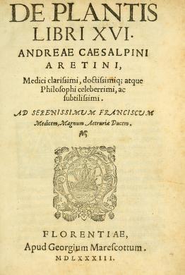 """Cover of """"De plantis libri XVI /"""""""