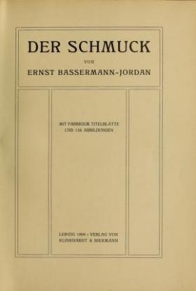 "Cover of ""Der schmuck"""