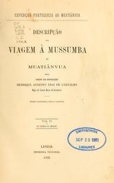 """Cover of """"Descripção da viagem á Mussumba do Muatiãnvua"""""""