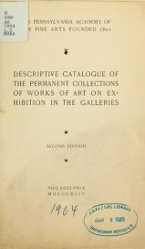 """Cover of """"Descriptive catalogue of the permanent collections of works of art on exhibition in the galleries"""""""