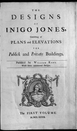 """Cover of """"The designs of Inigo Jones"""""""