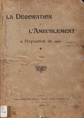 """Cover of """"La Décoration et l'ameublement à l'Exposition de 1900"""""""