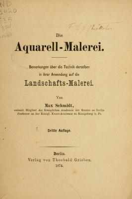 "Cover of ""Die Aquarell-Malerei"""