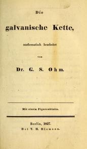 """Cover of """"Die galvanische Kette /"""""""