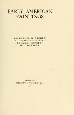 "Cover of ""Early American paintings"""