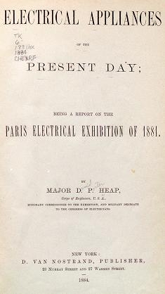 "Cover of ""Electrical appliances of the present day"""