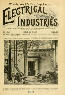 "Cover of ""Electrical industries"""