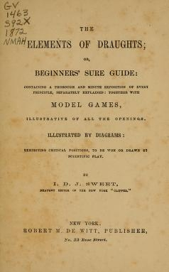 Cover of The elements of draughts