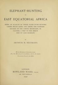 """Cover of """"Elephant-hunting in East Equatorial Africa"""""""