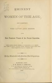 """Cover of """"Eminent women of the age"""""""