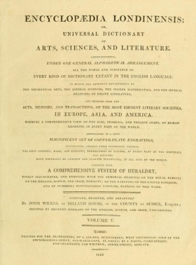 Cover of Encyclopaedia londinensis, or, Universal dictionary of arts, sciences, and literature