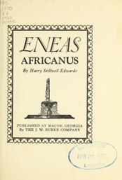 """Cover of """"Eneas Africanus ; Eneas Africanus, defendant"""""""
