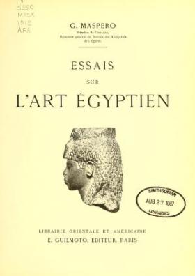 """Cover of """"Essais sur l'art égyptien"""""""