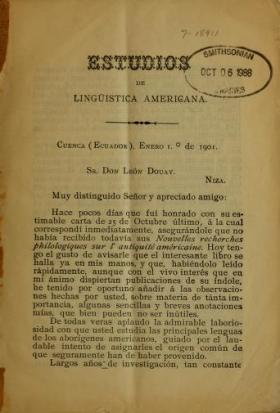 "Cover of ""Estudios de lingüística Americana"""