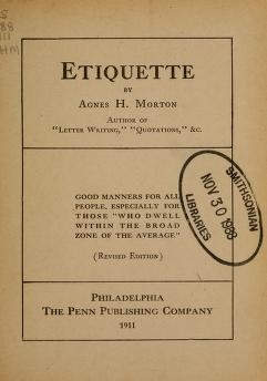 """Cover of """"Etiquette"""""""