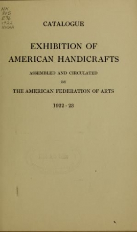 """Cover of """"Exhibition of American handicrafts"""""""