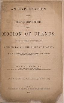"Cover of ""An explanation of the observed irregularities in the motion of Uranus"""