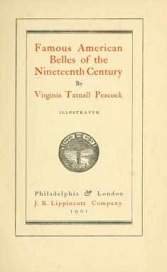 """Cover of """"Famous American belles of the nineteenth century"""""""
