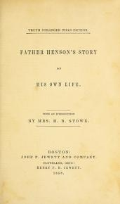 """Cover of """"Father Henson's story of his own life"""""""