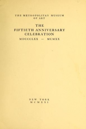 "Cover of ""The fiftieth anniversary celebration"""