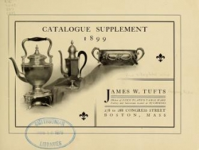 "Cover of ""Fine silverplated ware"""