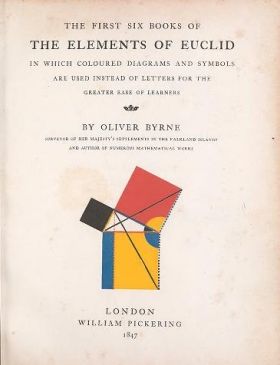 "Cover of ""The first six books of the Elements of Euclid"""