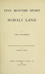 """Cover of """"Five months' sport in Somali land"""""""