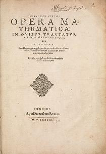 "Cover of ""Francisci Vietæi Opera mathematica"""